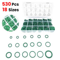 530Pcs Rubber O-Ring Washer Seal Assortment Set Kit Gasket HNBR A/C System Green