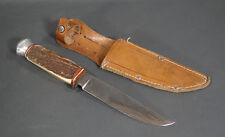 WWII BULGARIAN BOY SCOUT GERMAN ED.WUSTHOF SOLINGEN AWARD KNIFE ETCHED BLADE