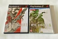 Metal Gear Solid 2 Sons Of Liberty & 3 Snake Eater - Playstation 2 PS2 Games