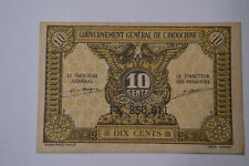 French Indo-China 10 Cents P89a 1942 Banknote.