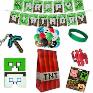 Minecraft Creeper Wristbands & Badges | Party Bags, Balloons | Stocking Fillers