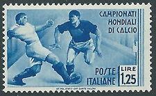 1934 REGNO MONDIALI DI CALCIO 1,25 LIRE MNH ** - Y196