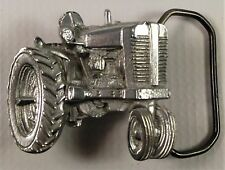 Farm Tractor Field Yard Plow Mow Belt Buckle Cemetery Groundskeeper Farmer Work