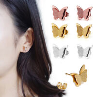 Fashion Jewelry Woman Titanium Stainless Steel Butterfly Ear Stud Earrings Gift
