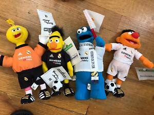 Lot Of 4 Sesame Street Real Madrid Soccer Plush Very Rare Barrio Sesamo Spain