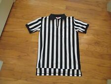 Men's M RAWLINGS Referee black white striped shirt jersey Sports Umpire zipper