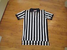 Men's M RAWLINGS Referee black white striped shirt jersey Sports Umpire zipper