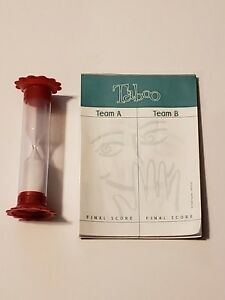 Taboo Board Game Replacement Pieces Score Pad  and Timer 2000