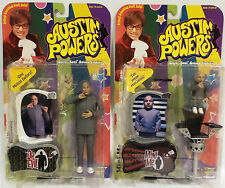 AUSTIN POWERS : MINI MEE & DR. EVIL CARDED ACTION FIGURES BY MCFARLANE TOYS (F)