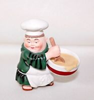 """Dept 56 Accessory """"CHEF WITH MIXING BOWL""""  Retired NO BOX"""