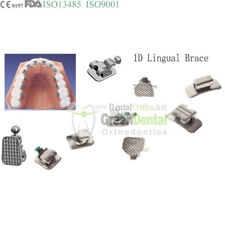 28Pcs/kit, 1D lingual brace w/h3 dental orthodontic buccal tube archwire 7-7