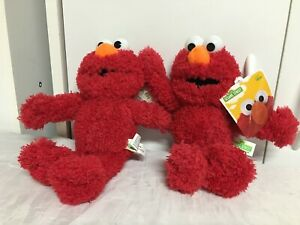 "Sesame Street Elmo Red Monster 9"" Stuffed Animal Plush Lot of 2 From Good Stuff"