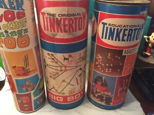 Approx over 500.Pieces Tinker Toys Classic Real Wood & Plastic( not as labeled)