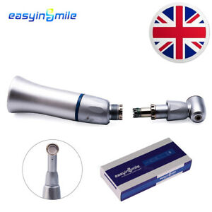 EASYIINSMILE Dental Push Button Slow Low Speed Contra Angle Handpiece Φ2.35 E-ty