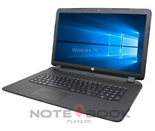 HP Notebook 17 Zoll HD+ Dual Core 2x 2,60GHz 8GB 256SSD Win10 / Laptop