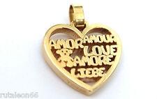 TOUS colgante corazón AMOR en oro 18K (18k. gold love pendant)