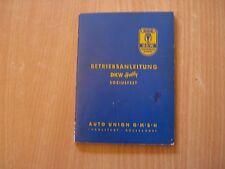 Betriebsanleitung Bedienungsanleitung DKW Hobby 07.1955