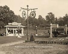 TEXACO GAS STATION VINTAGE PHOTO LUBE TIRES OLD PUMPS 1920 1920s 8x10 #21754