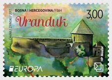 BOSNIA & HERZEGOVINA POST MOSTAR 2017 CEPT CASTLES 2 STAMPS