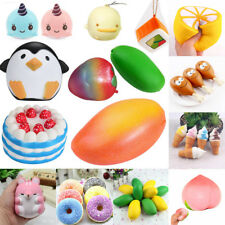 Collection Realistic Jumbo Squishy Squeeze Slow Rising Stress Relief Kid Fun Toy