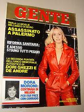 GENTE=1980/3=GLORIA GUIDA=FABRIZIO DE ANDRE=GIUSEPPE GRIECO=VINCENZO BUONASSISI=