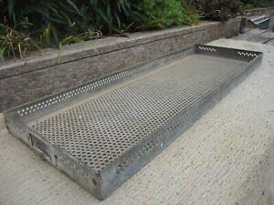 Vintage  Galvanised Greenhouse Tray With Drainge Holes  (555)