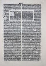 INKUNABEL BIBLIA LATINA BIBEL BLATT NICOLAUS DE LYRA LOCATELLUS FÜR SCOTUS 1489