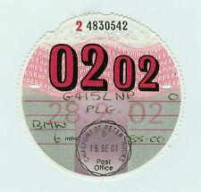 Private Car Tax Disc BMW 02 / 2002