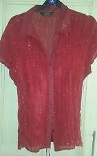 Bnwot sz 16 2 part shirt/blouse with undertop deep red burgundy Bhs
