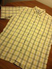 Sportif Mens Short Sleeve Large L Fishing Shirt EUC Plaid