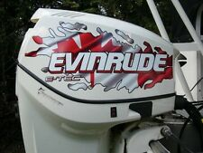 Evinrude V4 E-Tec Canadian And American Flag Tear Decal Kit