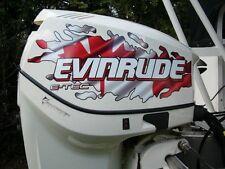 Evinrude V4 E-Tec Canadian And American Flag Tear Decal Kit