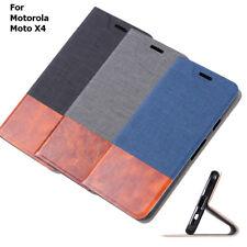 For Motorola Moto X4  Case, Card Pocket Wallet Stand Case Cover For Motorola