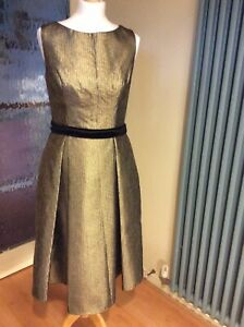 Bernshaw Abigail Gold Dress Size 10