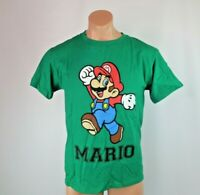 VTG 90s MARIO Retro NINTENDO T-SHIRT Sz L USA MADE GREEN