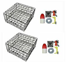 """2-Pack of KUFA Sports 24"""" Vinyl Coated Crab Trap and Accessories"""
