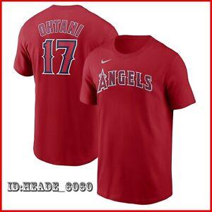 HOT SALE! 2021 MLB Shohei Ohtani Los Angeles Angels Name & Number T-Shirt