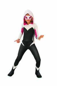 Kids Into the Spider-Verse Spider Gwen Costume Marvel Comics Ghost Spider Gift