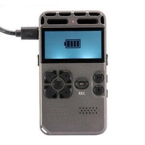 64gb נטענת Lcd הדיגיטלי אודיו סאונד מקליט קול נייד דיקטפון Mp3 נגן דיגיטלי מקליט