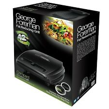 George Foreman 23411 Compact 3-Portion Non-Stick Grill - Black