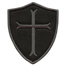 crusader templar cross black subdued ACU embroidered navy sew iron on patch