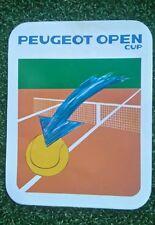 NOS 80 S vintage Peugeot Open Cup Tennis AUTOCOLLANT