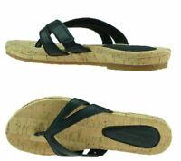 Timberland Women's Earthkeepers Spaulding BLACK Thong Sandals Flip Flops  8023A