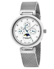 Stuhrling 672 01 672.01 Quartz Multi Function Day Date Month Mesh Womens Watch