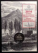 "GREECE 2 EURO 2016 UNC ""THE ARKADI MONASTERY TORCHING"""