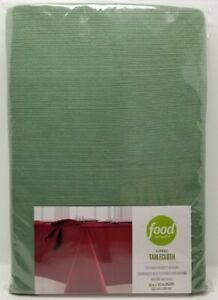 "Food Network Ribbed Tablecloth 60"" x 102"" Oblong Artichoke (G8)"