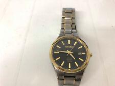 Seiko Solar Titanium Black Dial Two Tone Men's Watch 100M 40mm (SNE382)