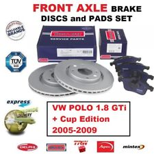 FOR VW POLO 1.8 GTi + Cup Edition 2005-2009 FRONT AXLE BRAKE PADS + DISCS 312mm