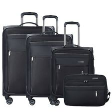 Travelite Capri 4-Rollen Kofferset Trolleyset Reiseset 4-tlg (schwarz)