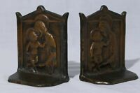 """Vintage 1925 DAL Art Deco Baby Jesus Mother Mary Book Ends 4.5"""""""